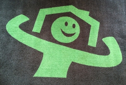 TAPIS LOGO - GREEN HOME - BE